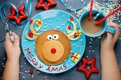 Crepes de la Navidad del reno Foto de archivo libre de regalías