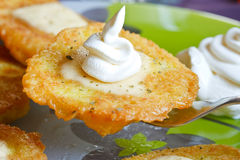 Crepes de patata Foto de archivo libre de regalías