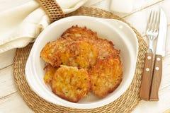 Crepes de patata Imagenes de archivo