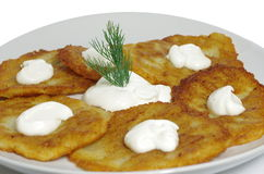 Crepes de patata Imagen de archivo libre de regalías