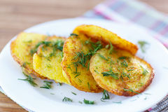 Crepes de patata Fotos de archivo libres de regalías