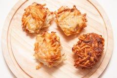 Crepes de patata asadas a la parrilla Imágenes de archivo libres de regalías