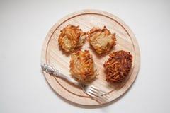Crepes de patata asadas a la parrilla Fotos de archivo