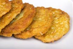 Crepes de patata con los ingredientes Imagen de archivo