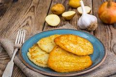 Crepes de patata fritas Fotos de archivo