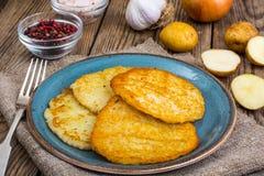 Crepes de patata fritas Imagen de archivo libre de regalías