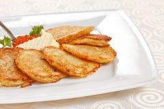 Crepes de patatas fritas Fotos de archivo libres de regalías