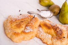 """Crepes del polaco del †de Racuchy """"con las frutas Imagen de archivo libre de regalías"""