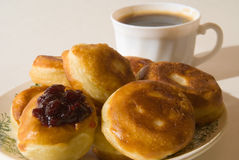 Crepes a desayunar Foto de archivo libre de regalías