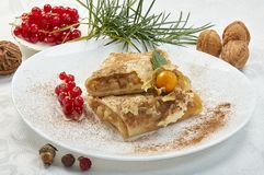 Crepes with filling stock images