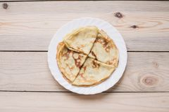 Crepes finas rusas del blini Maslenitsa Maslenitsa es un festival de la comida de Maslenitsa Visión superior con el espacio de la imagen de archivo libre de regalías