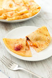 Crepes with fruit Stock Image