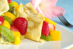 Crepes with Fruits Royalty Free Stock Image