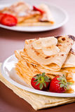 Crepes And Fruits Stock Photo