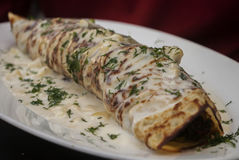 Crepes with ham and cheese Royalty Free Stock Images