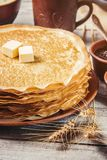 Crepes are homemade. Pancakes. Royalty Free Stock Photo