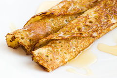 Crepes with honey Stock Photography