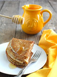 Crepes with honey Royalty Free Stock Images