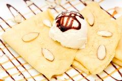 Crepes with Ice Cream stock photos