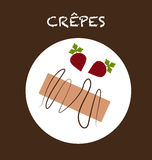 Crepes. Illustration of a typical food, made with vectors Stock Image