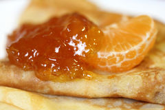 Crepes with jam Royalty Free Stock Image