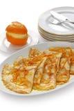 Crepes le suzette, dessert français Photographie stock libre de droits