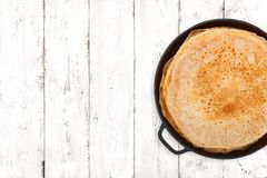 Crepes On Light Background Royalty Free Stock Photography