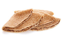 Crepes or Pancakes. Commercially produced crepes, or pancakes Stock Photo