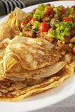Crepes Pancakes with Ratatouille Royalty Free Stock Images