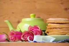 Crepes para el té imagen de archivo libre de regalías
