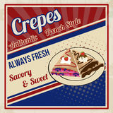 Crepes retro poster Stock Photo