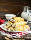 Crepes with ricotta Royalty Free Stock Photo