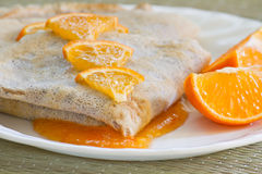 Crepes suzette Royalty Free Stock Image