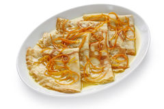 Crepes suzette , french dessert Royalty Free Stock Photo