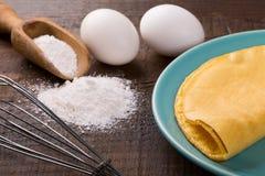 Crepioca - τηγανίτα της ταπιόκας μανιόκων Στοκ φωτογραφίες με δικαίωμα ελεύθερης χρήσης