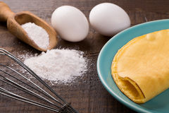 Crepioca - pancake della tapioca della manioca Fotografie Stock Libere da Diritti