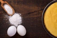 Crepioca - pancake della tapioca della manioca Fotografia Stock Libera da Diritti
