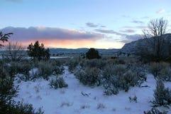 Crepuscolo del deserto Fotografie Stock