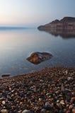 Crepuscolo del mare guasto Fotografia Stock