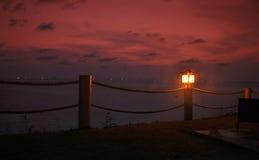 Crepuscolo dell'isola del phi del phi Immagine Stock