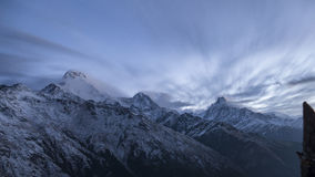 Crepuscolo di Annapurna Fotografie Stock