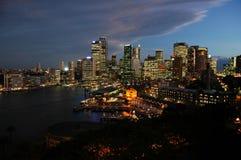 Crepuscolo di Sydney Fotografie Stock Libere da Diritti