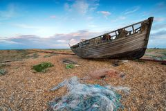 Crepuscolo a Dungeness Fotografie Stock