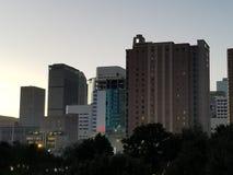 Crepuscolo a Houston fotografia stock