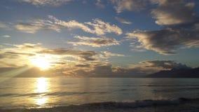 Crepuscolo in mare. Paesaggio durante il crepuscolo Royalty Free Stock Photos