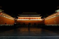 Crepuscolo meridiano del cancello del palazzo Immagini Stock Libere da Diritti