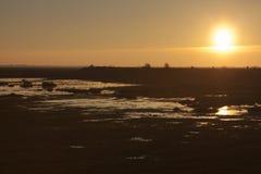 Crepuscolo nel Baie de Somme immagine stock libera da diritti