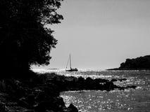 Crepuscolo, Porec, Croazia Fotografia Stock