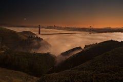Crepuscolo a San Francisco Fotografia Stock Libera da Diritti