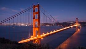 Crepuscolo sopra golden gate bridge Fotografia Stock Libera da Diritti
